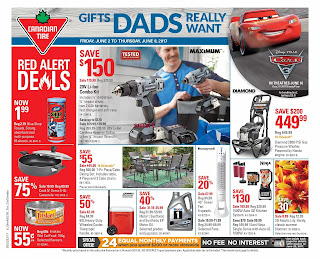 Canadian Tire Flyer Red Alert Deals valid June 8 to 11, 2017