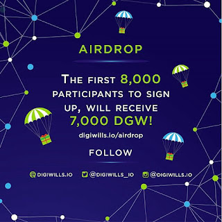 AirDrop : أول 8000 مشارك ، سوف يحصلون على 7000 DGW!