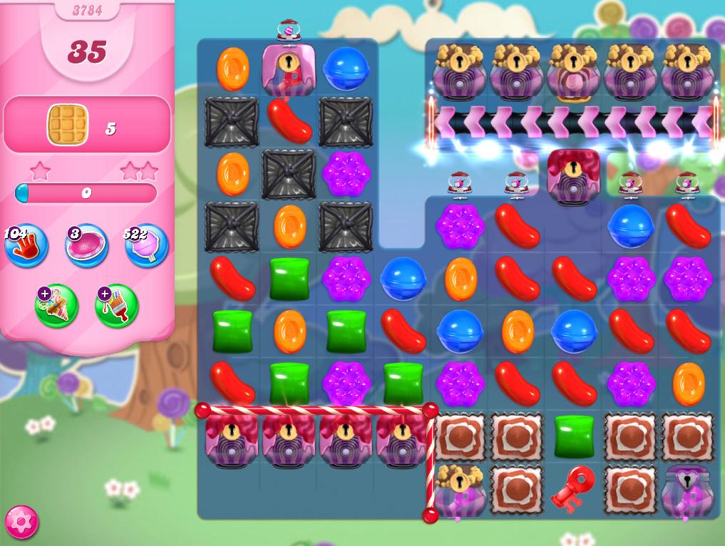 Candy Crush Saga level 3784