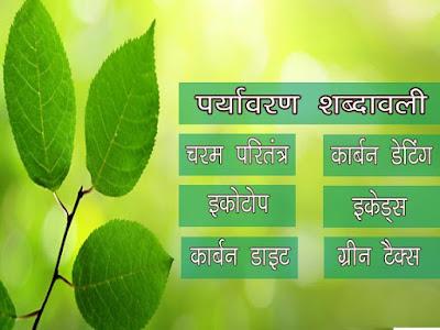 पर्यावरण से संबंधित शब्दावली | पर्यावरण शब्दावली|Environmental Terminology