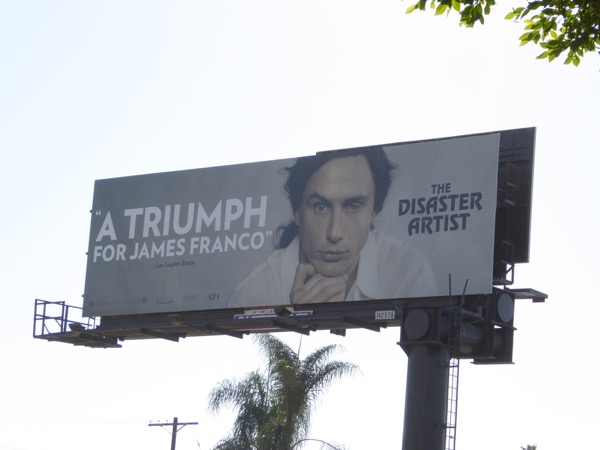 James Franco Disaster Artist movie billboard