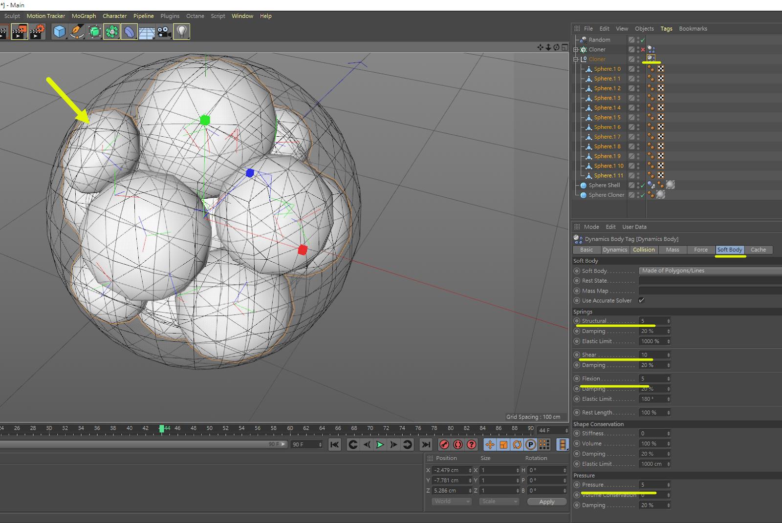 圓球內幾何擠壓物件 23