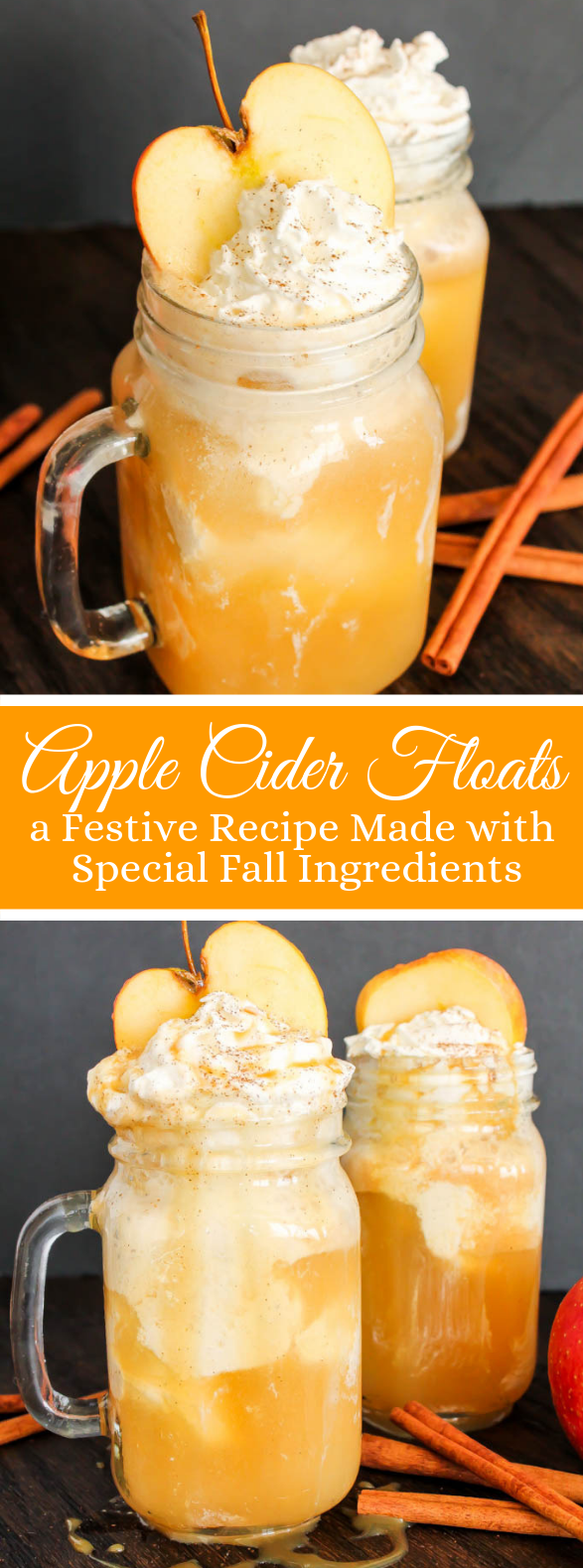 Apple Cider Floats #drinks #fall
