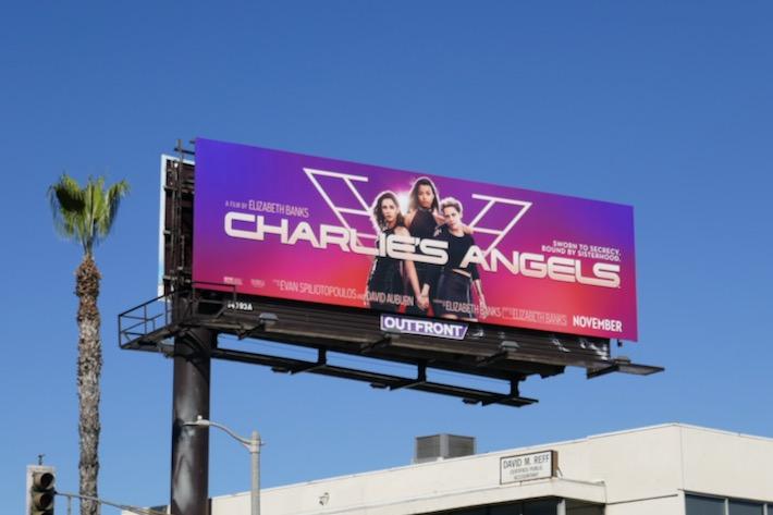 Charlies Angels movie remake billboard