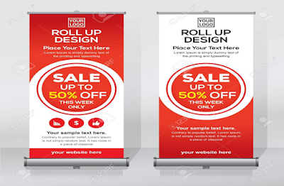 Contoh stand banner