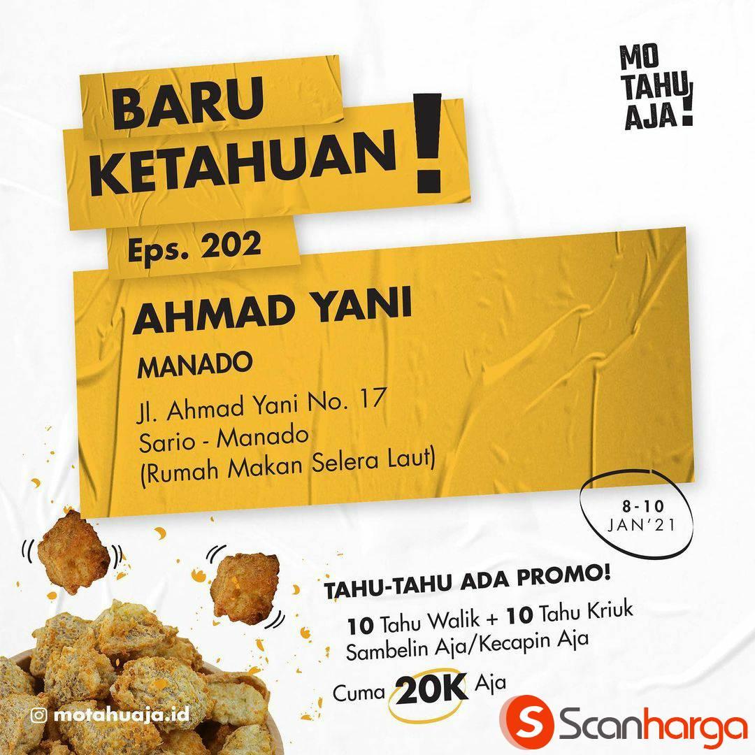 Mo Tahu Aja Ahmad Yani Manado Opening Promo Paket 20 Tahu cuma Rp 20.000