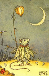 rato ilustração vintage fábula