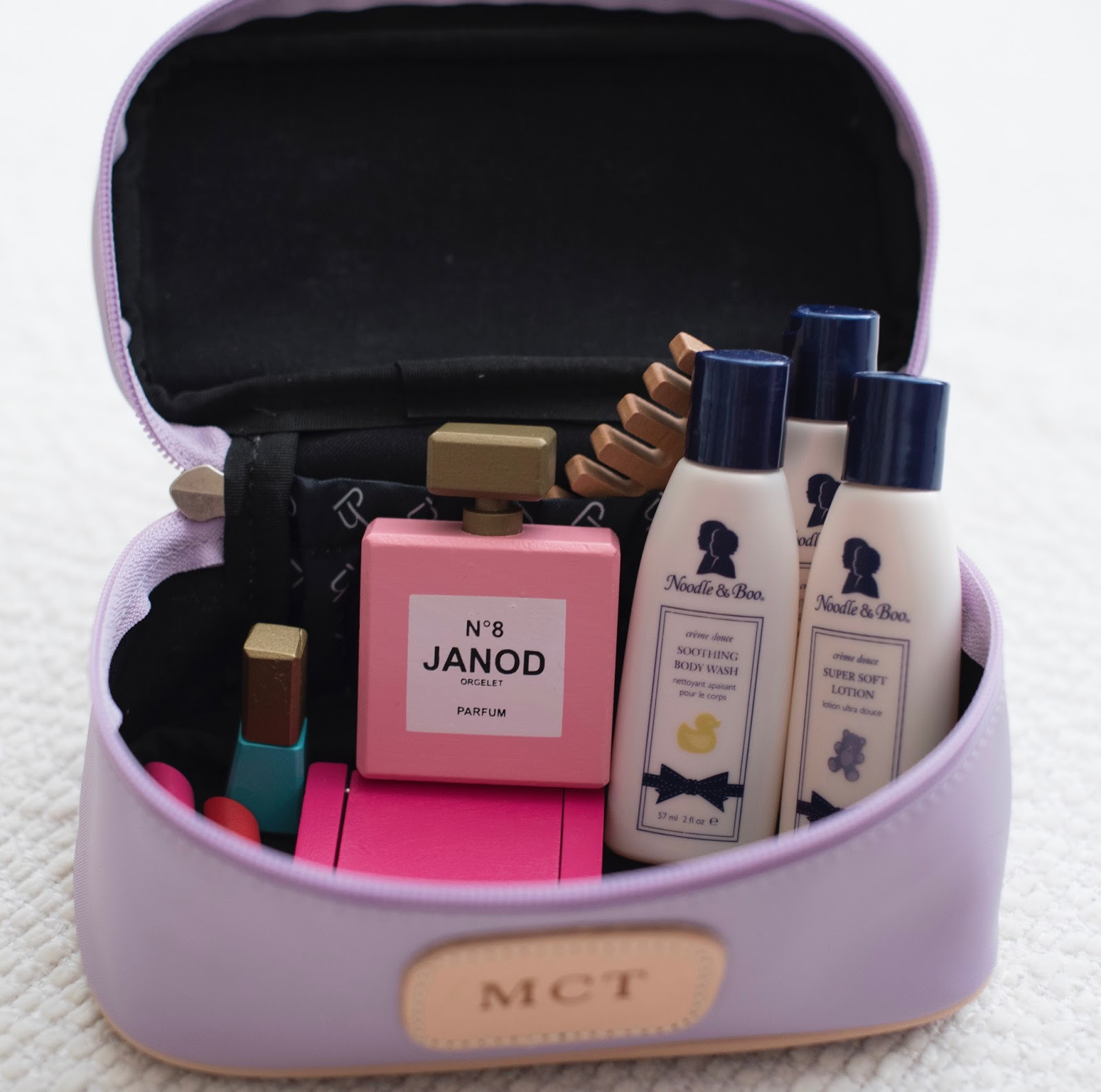 Toiletry kit for kids - Jon Hart Design on Something Delightful Blog