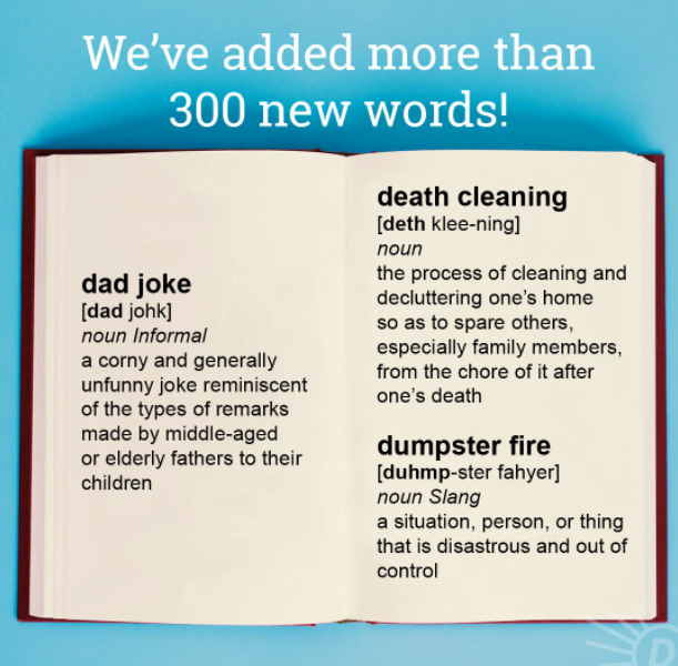 Dictionary.com adds over 300 new words to website, including 'Zaddy', 'Y'all', 'Asshat'