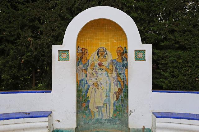Mural de Azulejos de la Glorieta de Ofelia Nieto