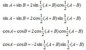 Jumlah Selisih Dua Fungsi Trigonometri