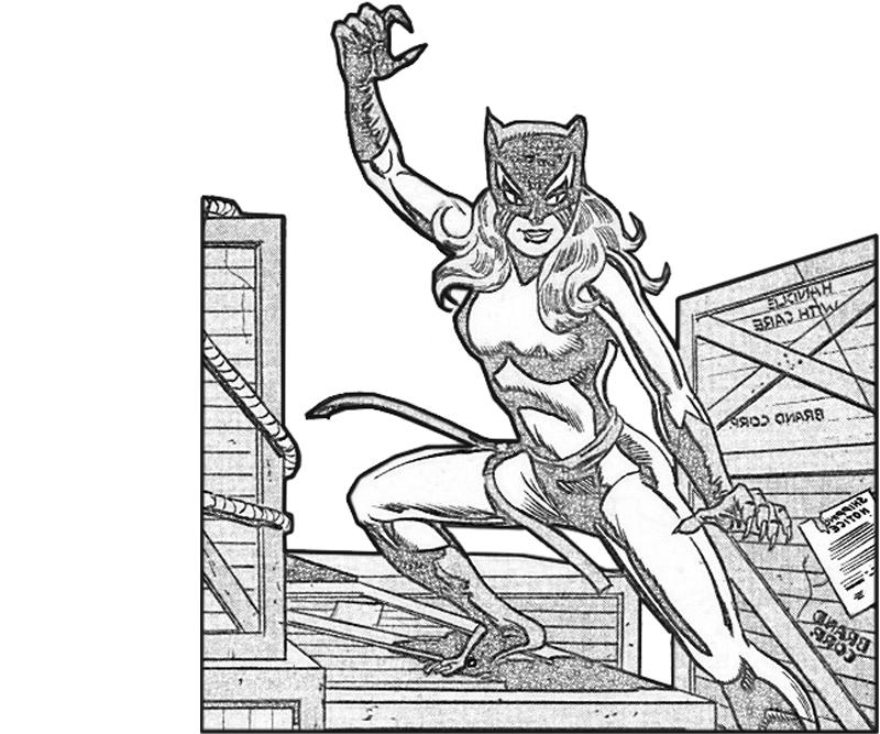 hellcat character coloring pages