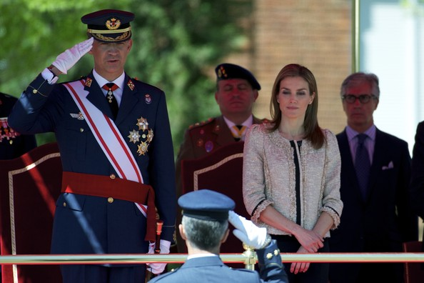 King Felipe And Queen Letizia Visit The Air Force Basic