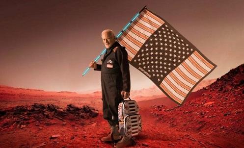 Aldrin non si espande perché crede che la colonizzazione di Marte possa essere essenziale per la sopravvivenza della specie