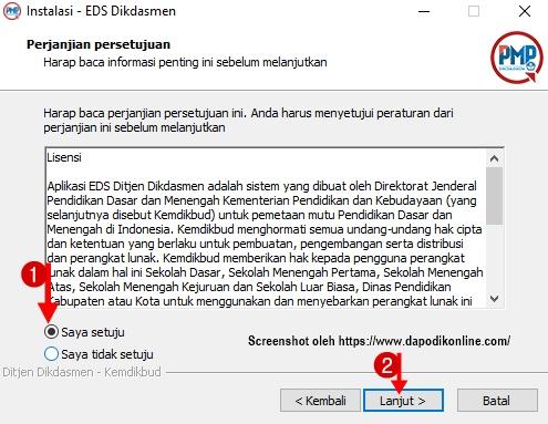 perjanjian persetujuan instalasi EDS Dikdasmen/PMP Offline 2019.11