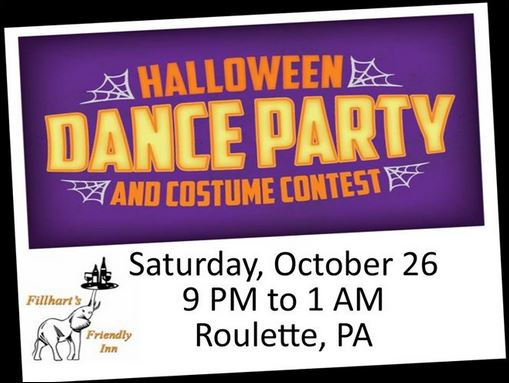 10-26 Halloween Dance Party, Friendly Inn, Roulette