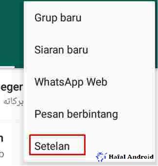 Buka Pengaturan Setelan WhatsApp