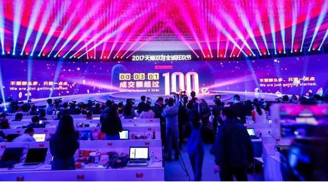 Alibaba Cetak Rekor Penjualan Rp 244 Triliun dalam 13 Jam