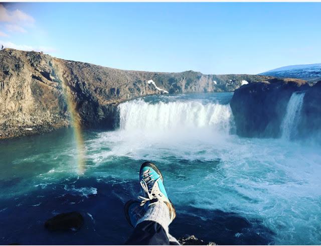 wodospad tęcza Islandia