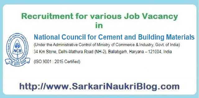 NCCBM Vacancy Recruitment