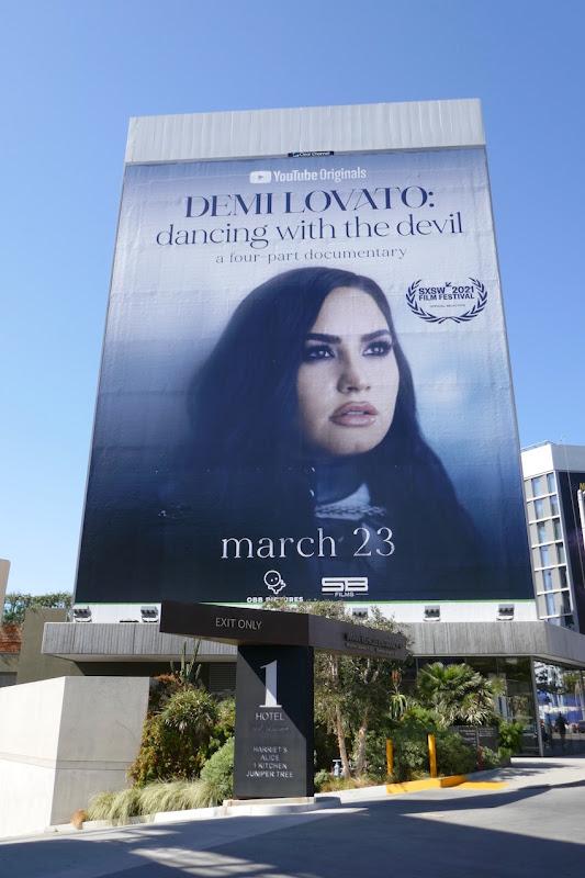 Demi Lovato Dancing with Devil docu-series billboard