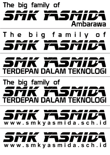 Desain Stiker Tulisan SMK Yasmida Ambarawa