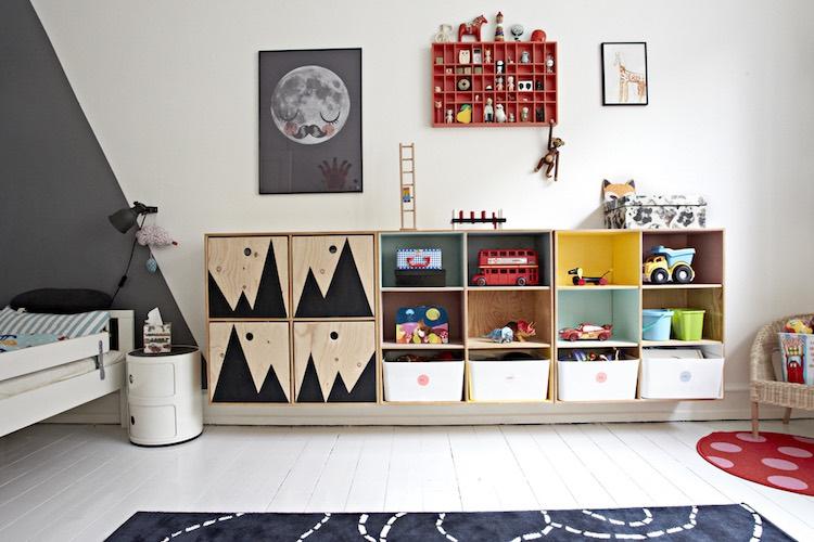 dormitorio infantil con almacenaje