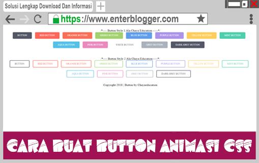 Cara Membuat Button Animasi CSS