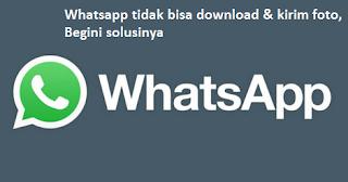 Whatsapp tidak bisa download & kirim foto, Begini solusinya