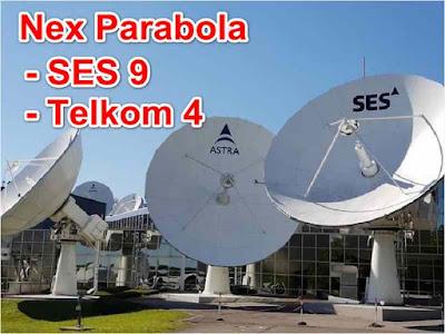 Channel Nex Parabola Telkom4 dan Ses9