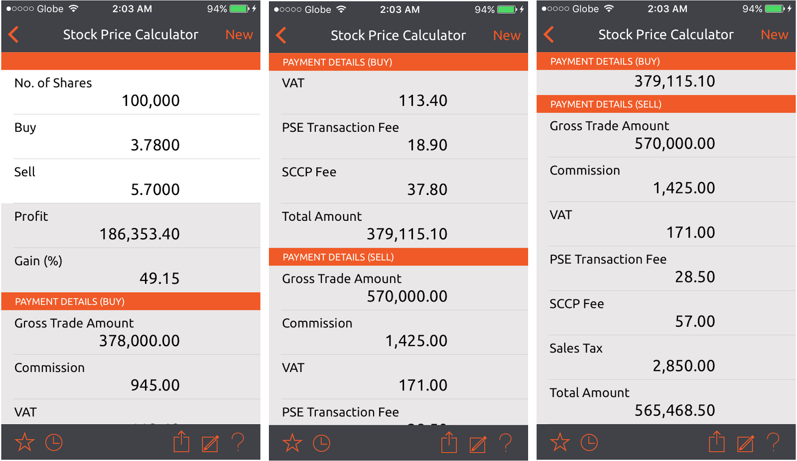 free stock price calculator mobile and excel versions