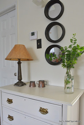 White Dresser with mirrors