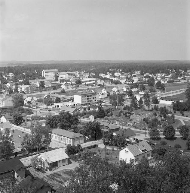 Ylhäältä kuvattu näkymä Heinolaan.