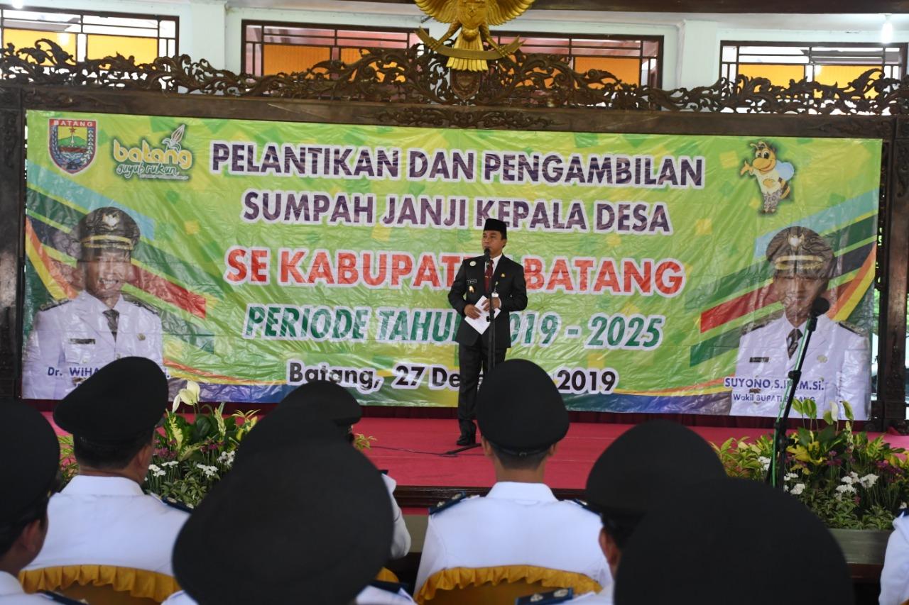 Lantik 41 Kades, Wihaji Nitip Alokasikan Dana Desa Untuk Jamban