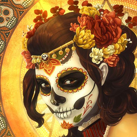 Aztec Girl Wallpaper Engine
