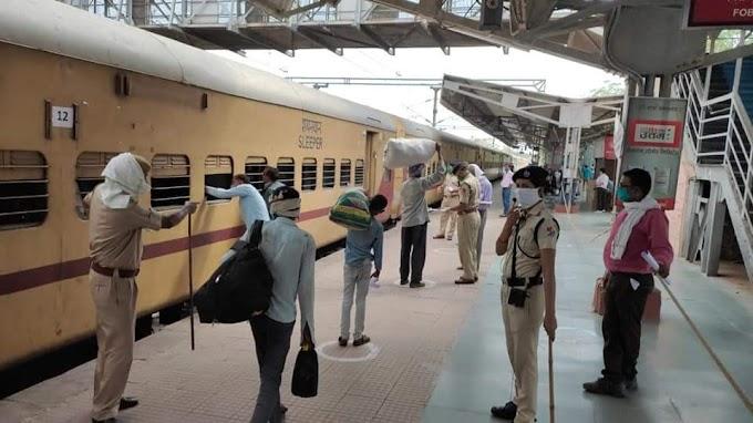 सवाई माधोपुर से ट्रेनों के माद्यम से लोगों को भेजा जा रहा आज करीब 5,000 हज़ार लोगों को भेजा जाएगा