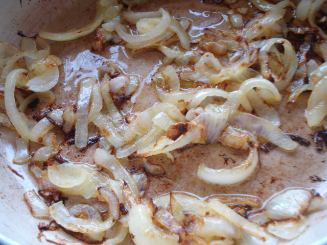 sauté the onions in olive oil