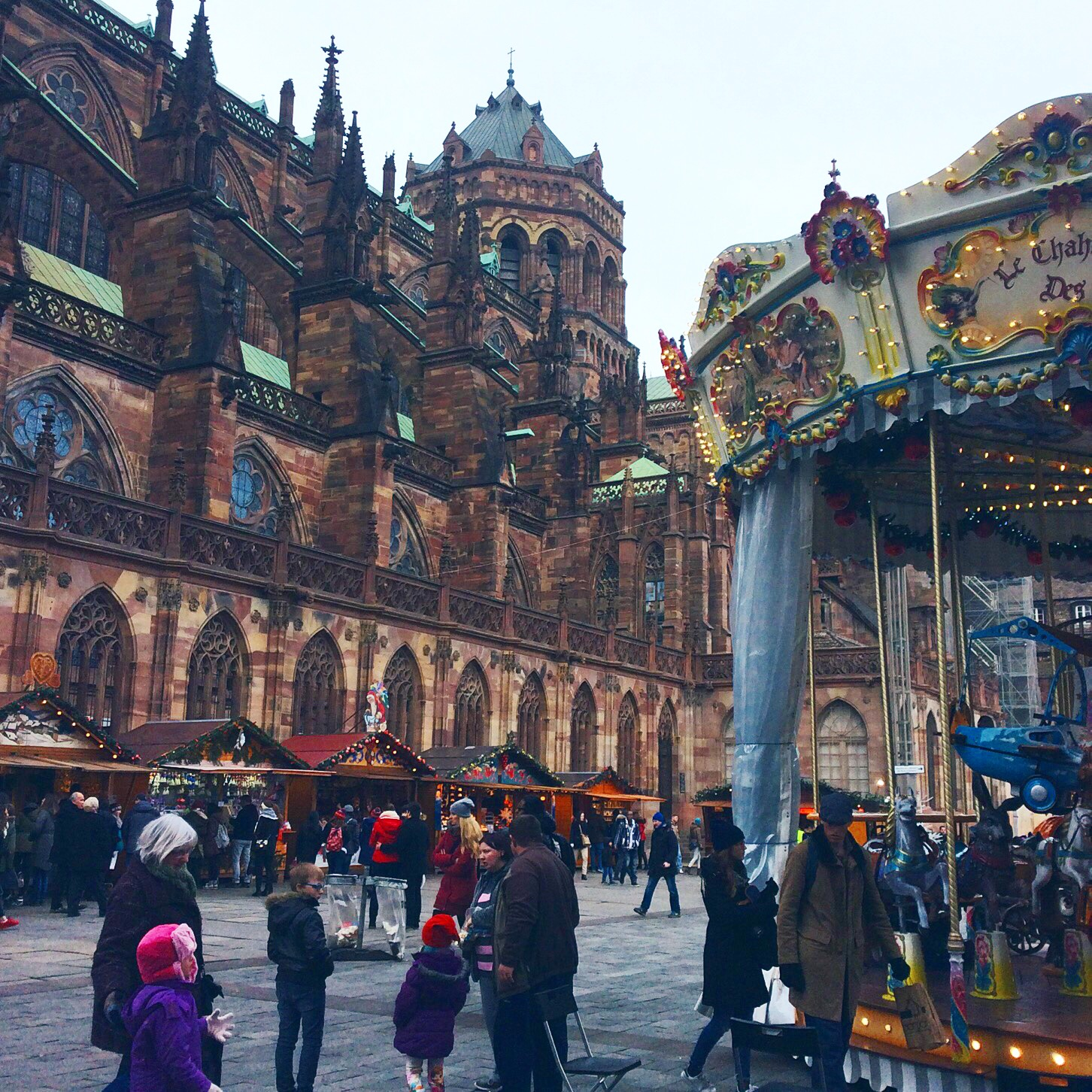 Strasbourg Cathedral and Christmas Market