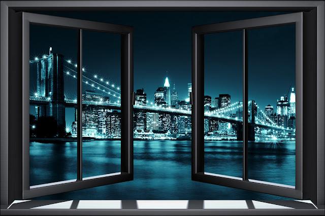broolyn-bridge-through-window-tapetti