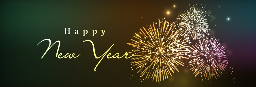 happy new year facebook page cover