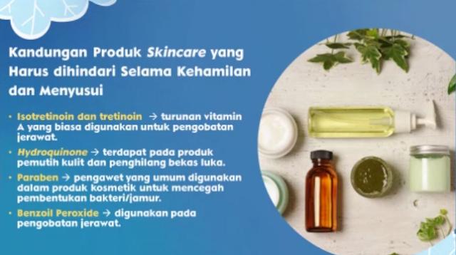 kandungan skincare yang tidak boleh ada pada skincare ibu hamil dan menyusui