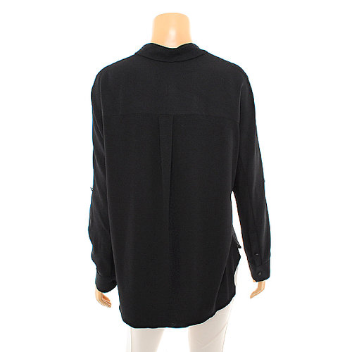 Rolled-Sleeve Henley Shirt