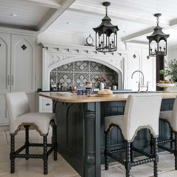 Gotik Mutfak ve Yemek Odası Tasarımları