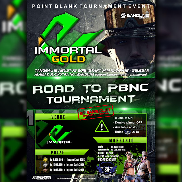 [EVENT] IMMORTAL GOLD ROAD TO PBNC PB TOURNAMENT