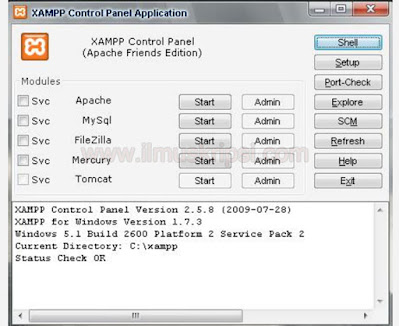 Cara Install Xampp 1.7.3