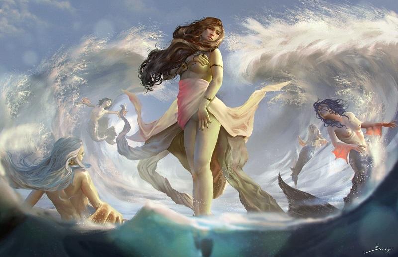Ásia - Nereida da Mitologia Grega