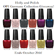 OPI Germany Collection Giveaway!