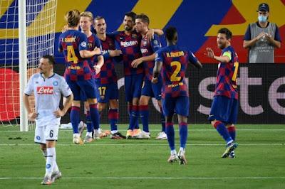 ملخص واهداف مباراة برشلونة ونابولي (3-1) فى دوري ابطال اوروبا