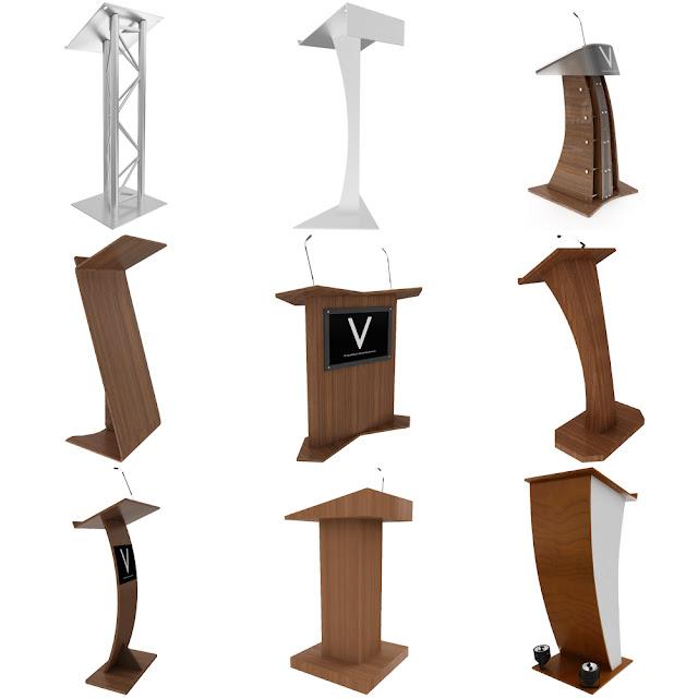 Podium 3d model Collection