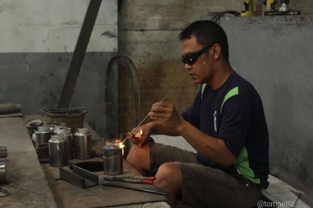Kunjungan ke industri knalpot Purbalingga